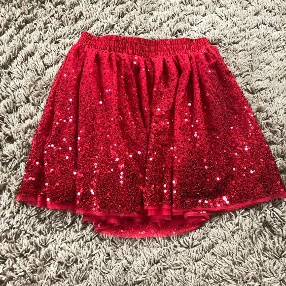 02d97cd7b Cat & Jack Bottoms | Girls Cat Jack Red Sequin Skirt | Poshmark